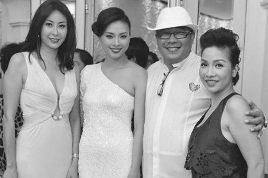 Hoa hậu Hà Kiều Anh gợi cảm trong đêm tiệc
